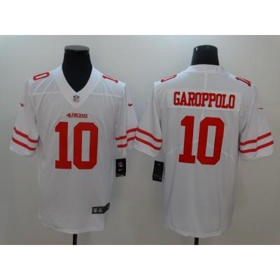 NFL 49ers 10 Jimmy Garoppolo White Vapor Untouchable Nike Limited Men Jersey
