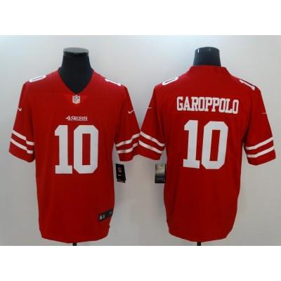 NFL 49ers 10 Jimmy Garoppolo Red Vapor Untouchable Nike Limited Men Jersey