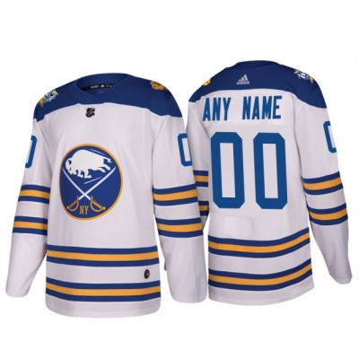 NHL Sabres White 2018 Winter Classic Custom Adidas Men Jersey