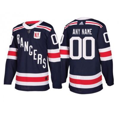 NHL Rangers Navy Blue 2018 Winter Classic Custom Adidas Men Jersey