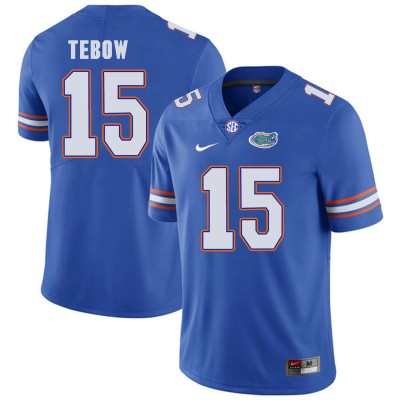 NCAA Florida Gators 15 Tim Tebow Blue College Football Men Jersey