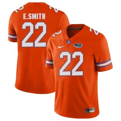 NCAA Florida Gators 22 E.Smith Orange College Football Men Jersey