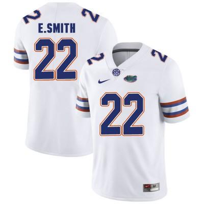 NCAA Florida Gators 22 E.Smith White College Football Men Jersey