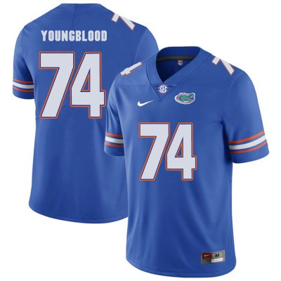 NCAA Florida Gators 74 Jack Youngblood Blue College Football Men Jersey