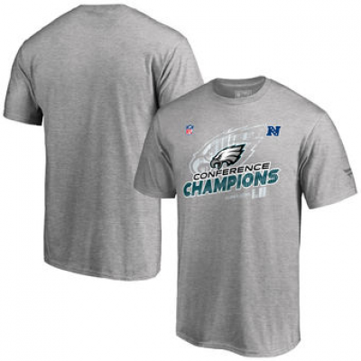 NFL Eagles Heather Gray 2017 NFC Champions Men T-Shirt