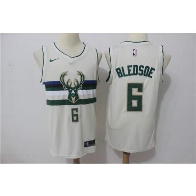 NBA Bucks 6 Eric Bledsoe Cream City Edition Nike Men Jersey