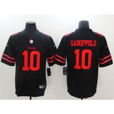 Nike NFL 49ers 10 Jimmy Garoppolo Black Vapor Untouchable Limited Men Jersey