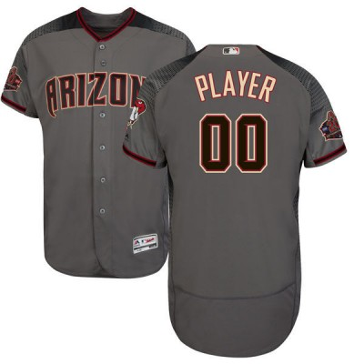 MLB Diamondbacks Gray Customized Men Jersey