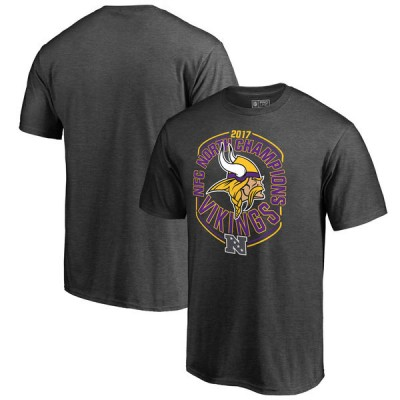NFL Vikings Pro Line Grey 2017 NFC North Division Champions Men T-Shirt