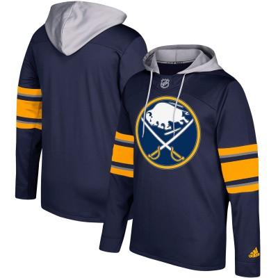 NHL Buffalo Sabres Navy Silver Adidas Pullover Men Hoodie