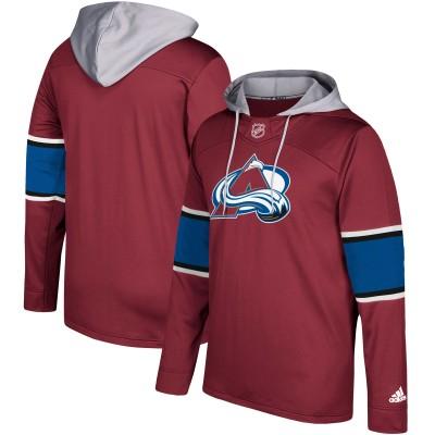 NHL Colorado Avalanche Maroon Silver Adidas Pullover Men Hoodie