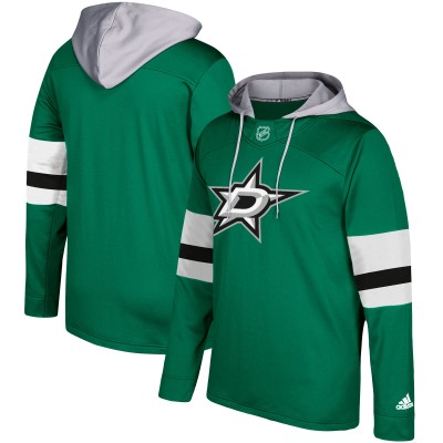 NHL Dallas Stars Green Silver Adidas Pullover Men Hoodie
