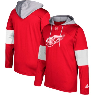 NHL Detroit Red Wings Red Silver Adidas Pullover Men Hoodie