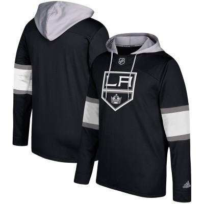 NHL Los Angeles Kings Black Silver Adidas Pullover Men Hoodie