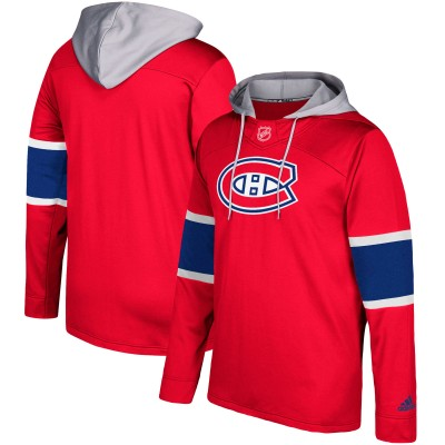 NHL Montreal Canadiens Red Silver Adidas Pullover Men Hoodie