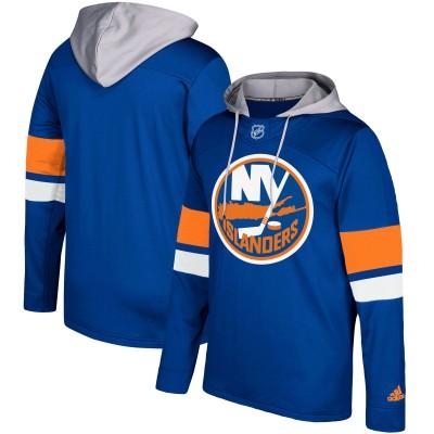 NHL New York Islanders Navy Silver Adidas Pullover Men Hoodie