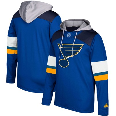 NHL St. Louis Blues Blue Silver Adidas Pullover Men Hoodie
