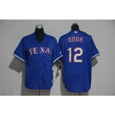 MLB Rangers 12 Rougned Odor Blue Cool Base Youth Jersey