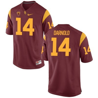 NCAA Trojans 14 Sam Darnold Red Nike Limited Men Jersey