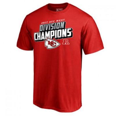 NFL Chiefs Pro Line Red 2017 AFC West Division Champions Men T-Shirt