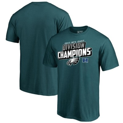 NFL Eagles Pro Line Midnight Green 2017 NFC East Division Champions Men T-Shirt