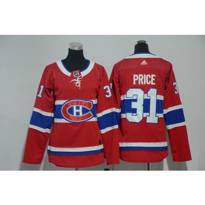 NHL Canadiens 31 Carey Price Red Adidas Women Jersey