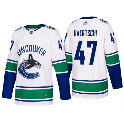 NHL Canucks 47 Sven Baertschi White Adidas Men Jersey
