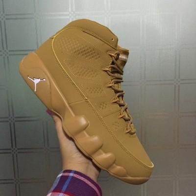 Air Jordan 9 Wheat Golden Harvest Men Shoes