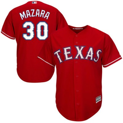 MLB Rangers 30 Nomar Mazara Red Cool Base Men Jersey