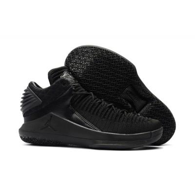 Air Jordan 32 Low Triple Black Basketball Men Shoes