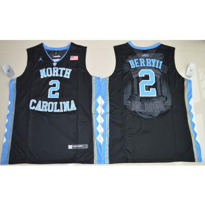 NCAA Heels 2 Joel Berry II  Black Basketball Men Jersey