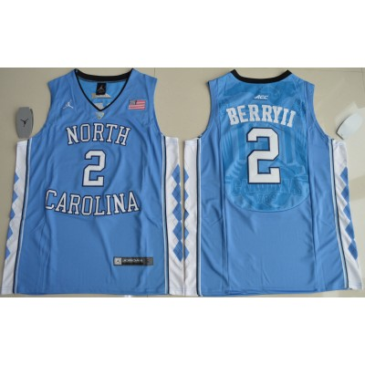 NCAA Heels 2 Joel Berry II  Blue Basketball Men Jersey