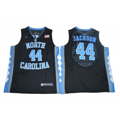 NCAA Heels 44 Justin Jackson Black Basketball Men Jersey