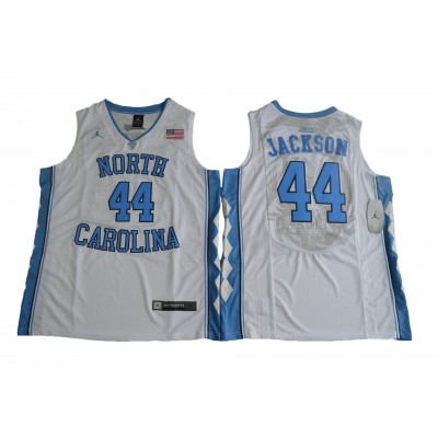 NCAA Heels 44 Justin Jackson White Basketball Men Jersey