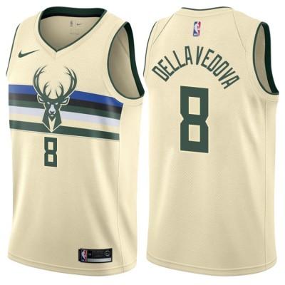 NBA Bucks 8 Matthew Dellavedova Cream City Edition Nike Men Jersey