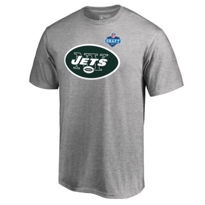 NFL New York Jets Pro Line Heather Gray 2017 NFL Draft  Men T-Shirt
