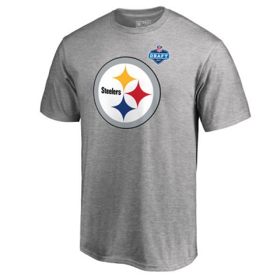 NFL Pittsburgh Steelers Pro Line Heather Gray 2017 NFL Draft  Men T-Shirt
