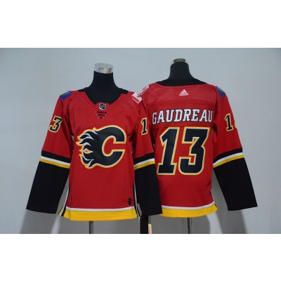 NHL Flames 13 Johnny Gaudreau Red Adidas Youth Jersey