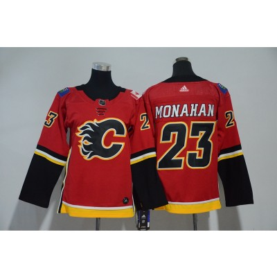 NHL Flames 23 Sean Monahan Red Adidas Youth Jersey
