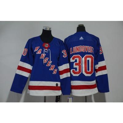 NHL Rangers 30 Henrik Lundqvist Blue Adidas Youth Jersey