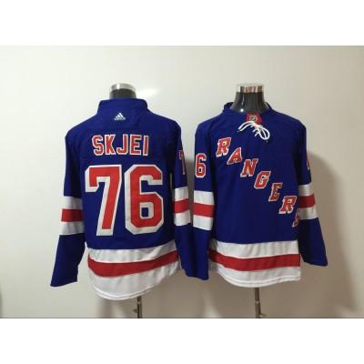 NHL Rangers 76 Brady Skjei Blue Adidas Men Jersey