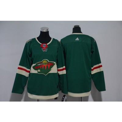 NHL Wild Blank Green Adidas Youth Jersey