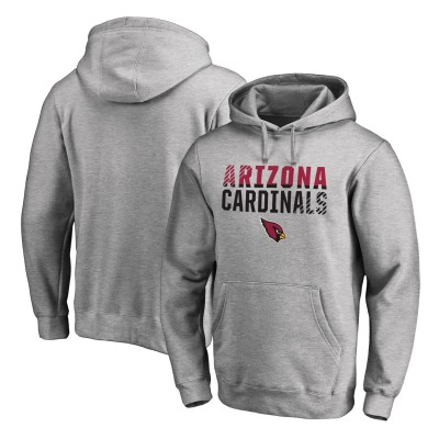NFL Arizona Cardinals Pro Line Ash Fade Out Pullover Men Hoodie