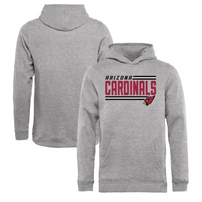 NFL Arizona Cardinals Pro Line Ash Side Stripe Pullover Youth Hoodie