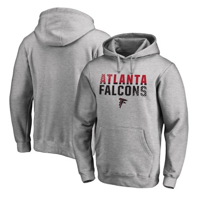 NFL Atlanta Falcons Pro Line Ash Fade Out Pullover Men Hoodie