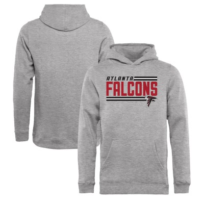 NFL Atlanta Falcons Pro Line Ash Side Stripe Pullover Youth Hoodie