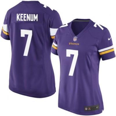 Nike Vikings 7 Case Keenum Purple Game Women Jersey
