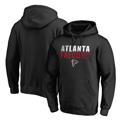 NFL Atlanta Falcons Pro Line Black Fade Out Pullover Men Hoodie