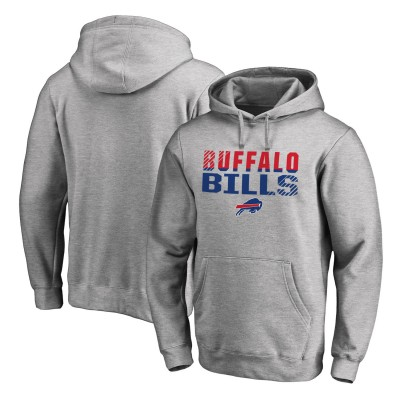NFL Buffalo Bills Pro Line Ash Fade Out Pullover Men Hoodie