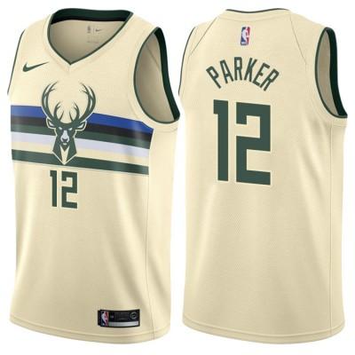 NBA Bucks 12 Jabari Parker Cream City Edition Nike Men Jersey